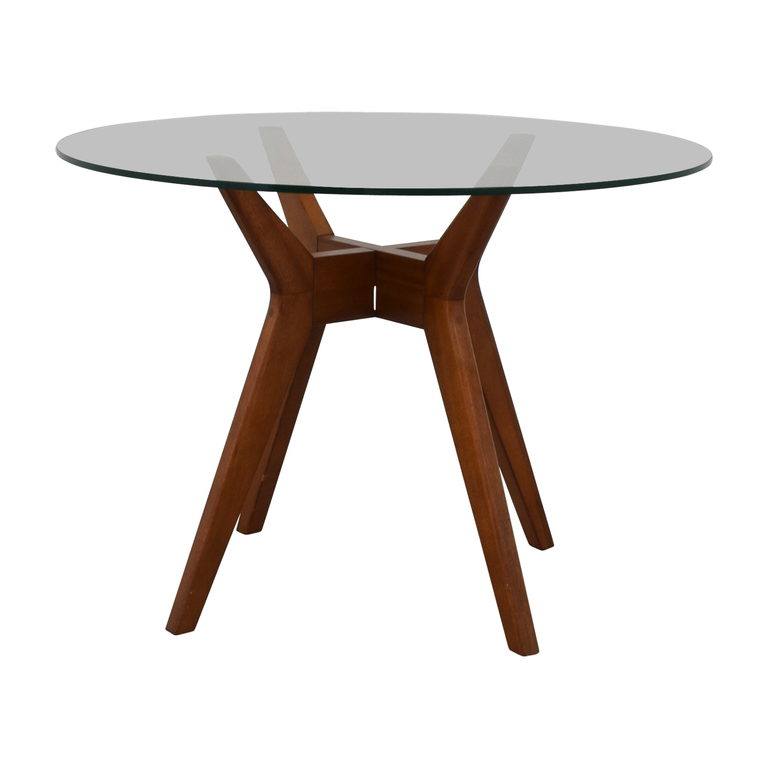 buy West Elm Round Glass Dining Table West Elm