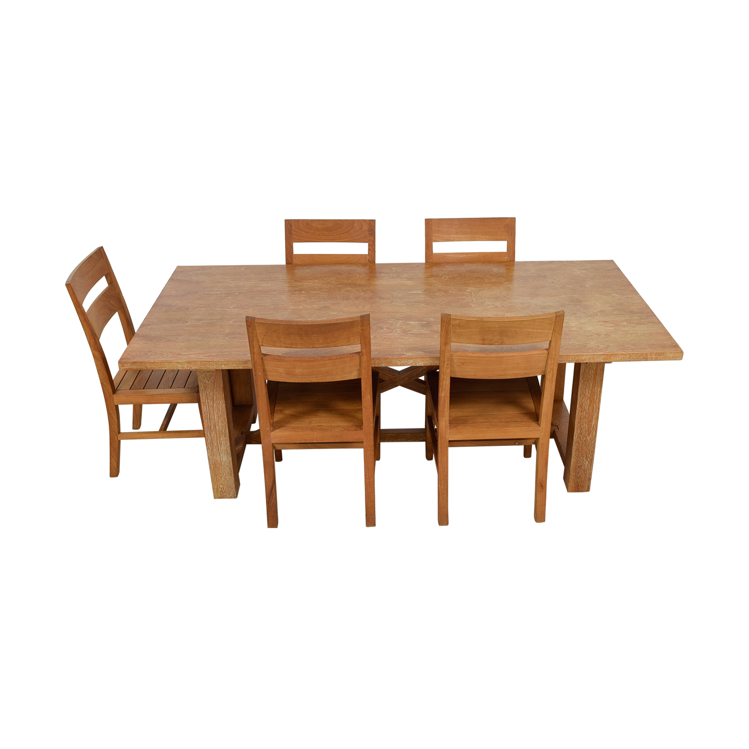 Crate & Barrel Crate & Barrel Teak Wood Dining Set for sale