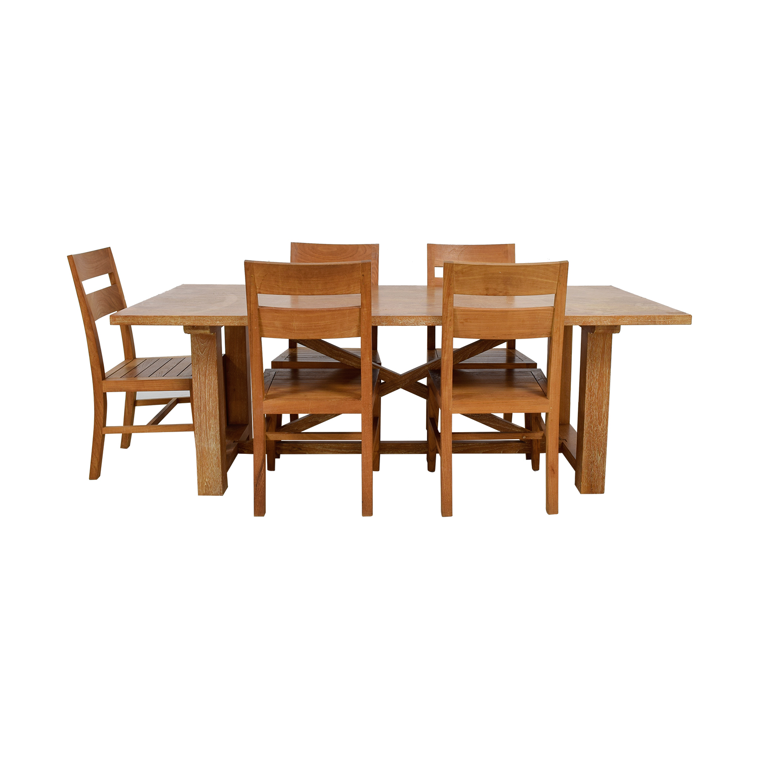 Crate & Barrel Teak Wood Dining Set / Sofas