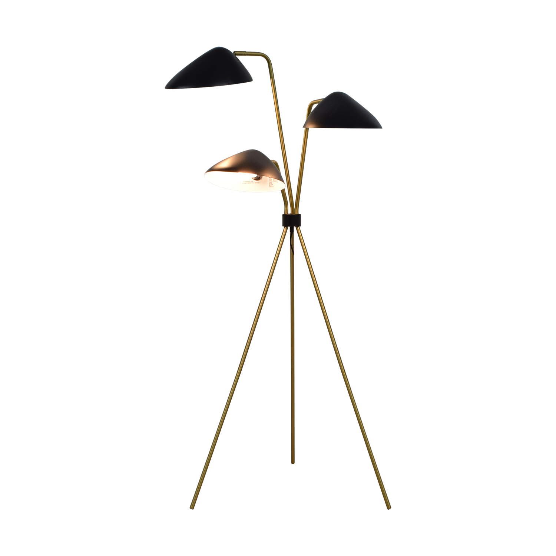 shop Tripod Three-Headed Floor Lamp  Lamps
