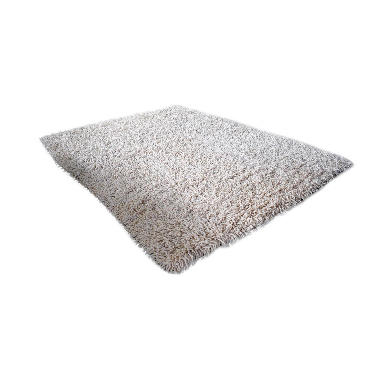 white shag rug. Shop Design Within Reach Nesta White Shag Rug Online