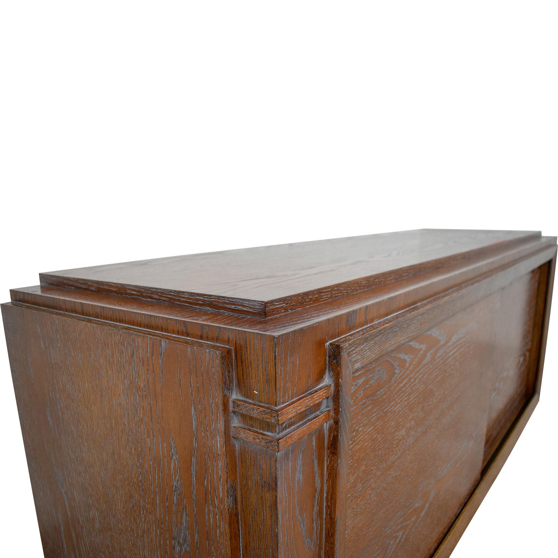 Custom Wood Media Storage Unit dimensions