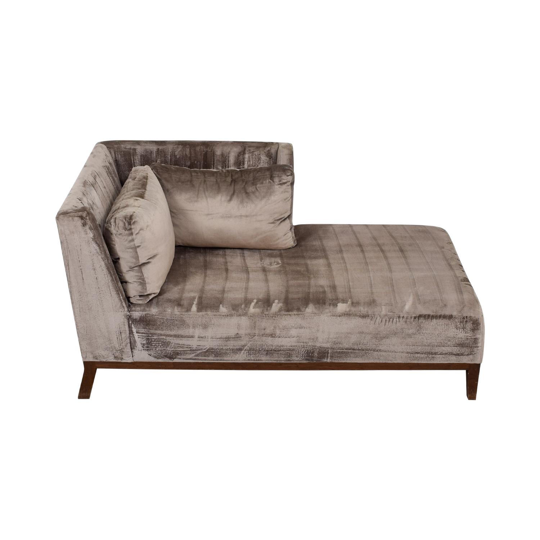 shop Custom Grey Chaise Lounger Custom Chaises