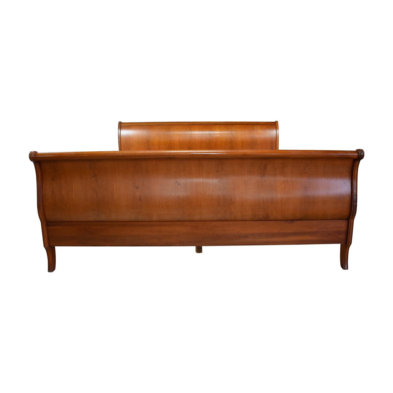 Ethan Allen King Sleigh Bed Frame