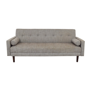 Urban Outfitters Urban Outfitters Grey Tufted Three-Cushion Convertible Sofa discount