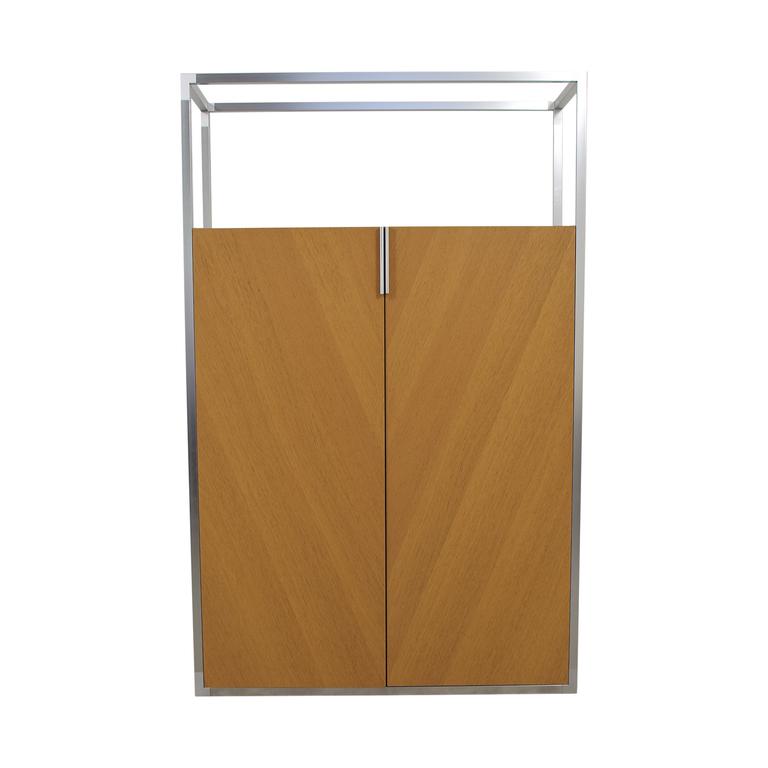 Ligne Roset Ligne Roset Wooden Wardrobe with Metal Top Frame second hand