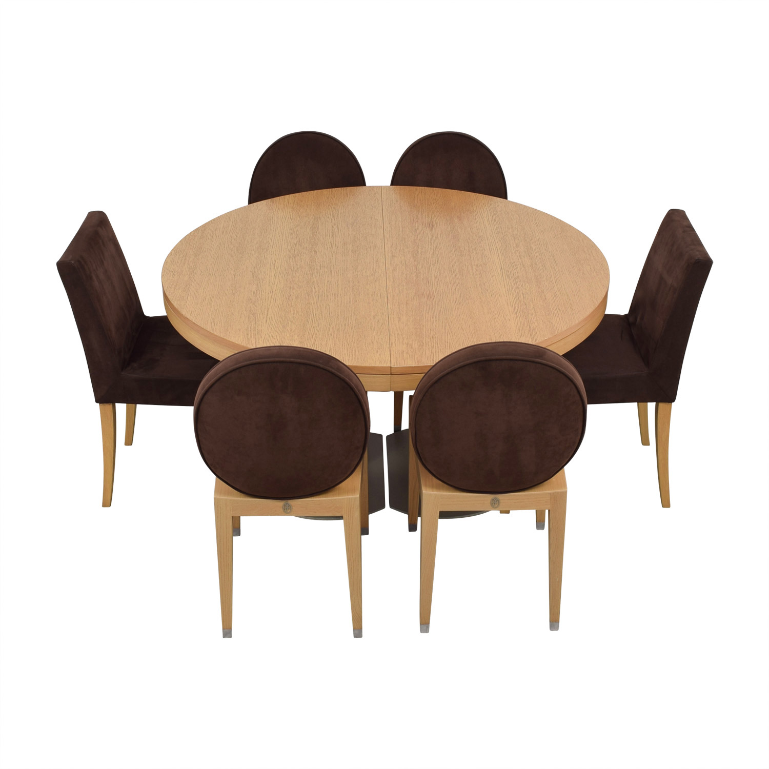 buy Ligne Roset Natural Wood Extendable Dining Table with Chairs Ligne Roset Tables