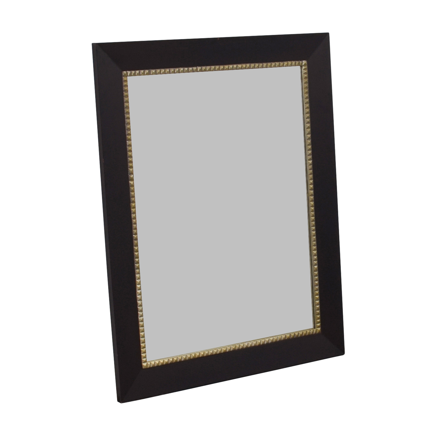 Studded Brown Framed Mirror Decor
