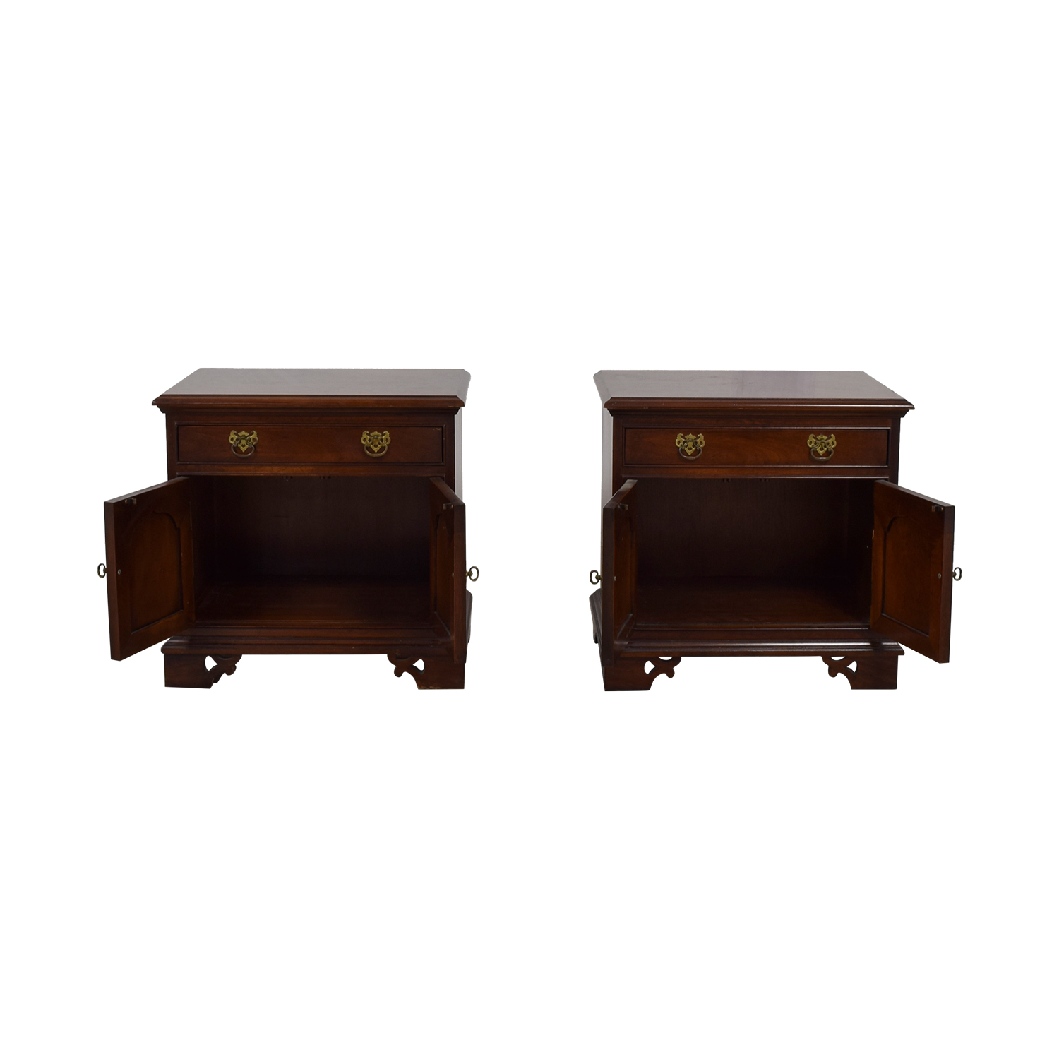 Thomasville Thomasville Cherry Wood Single-Drawer Nightstands nyc