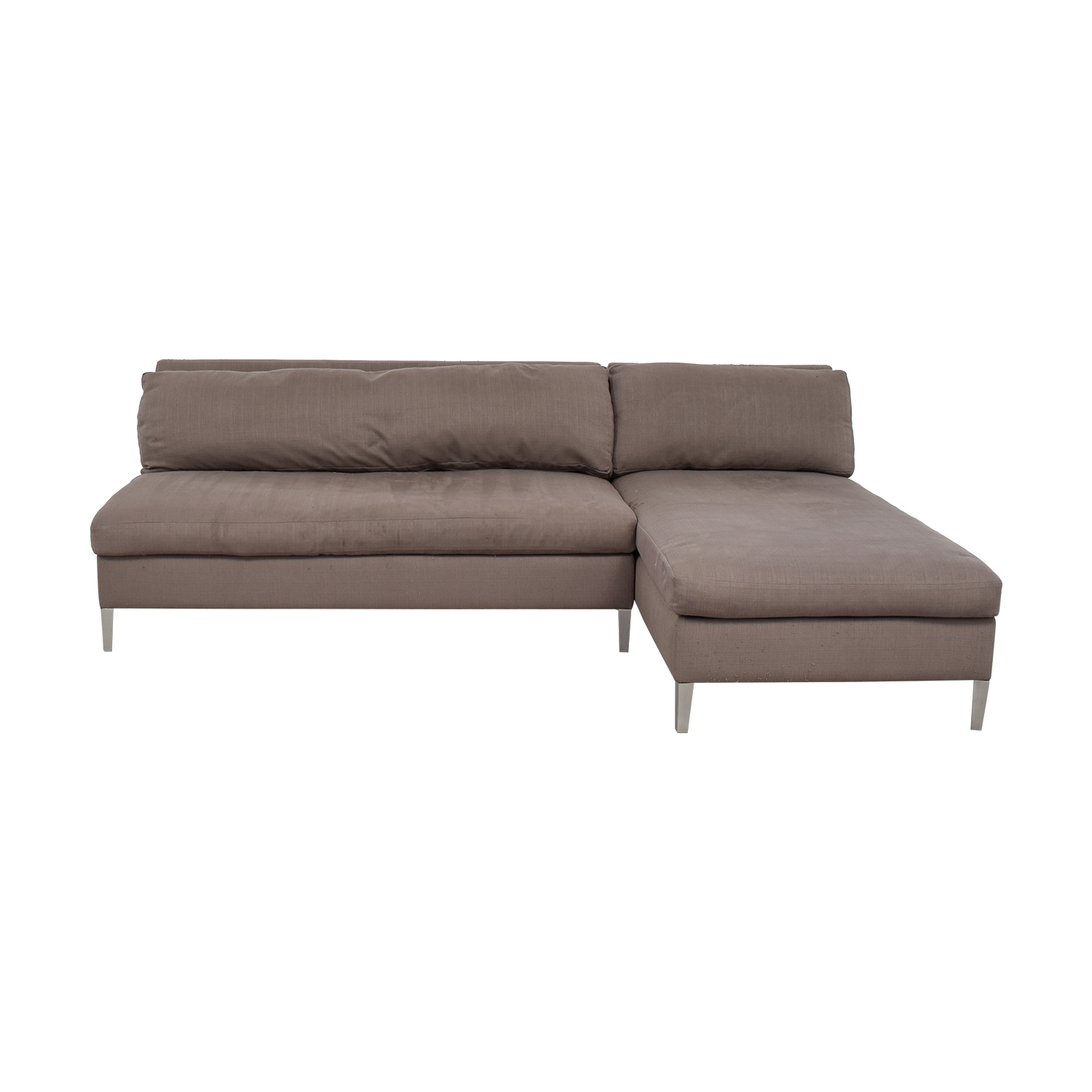 CB2 CB2 Ciello II Grey Chaise Sectional nyc