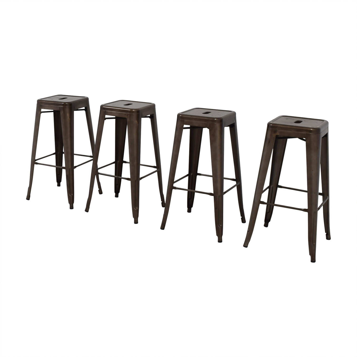 Tabouret Style Industrial Rustic Distressed Metal Bar Stools Chairs