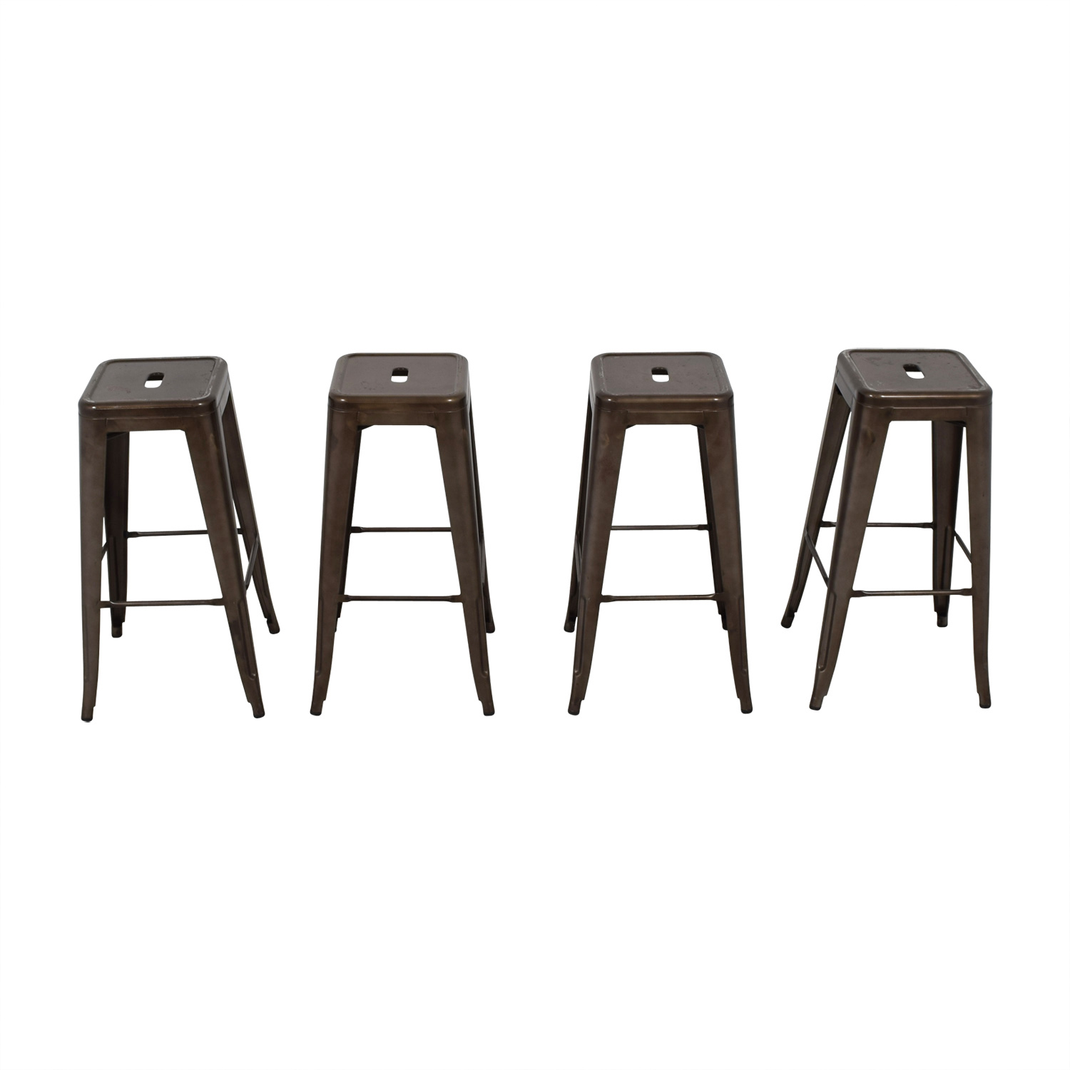 shop Tabouret-Style Industrial Rustic Distressed Metal Bar Stools  Sofas