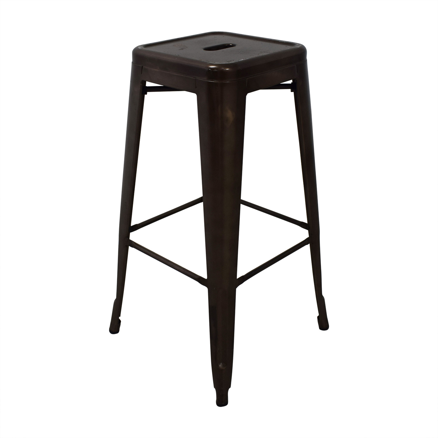 83 off tabouret style industrial rustic distressed metal bar stools chairs. Black Bedroom Furniture Sets. Home Design Ideas