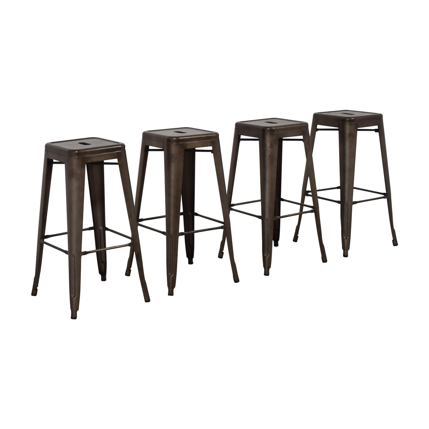 Tabouret Style Industrial Rustic Distressed Metal Bar Stools / Chairs
