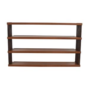 buy Custom Wood Open Shelving Unit