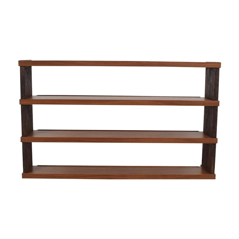 shop Custom Wood Open Shelving Unit