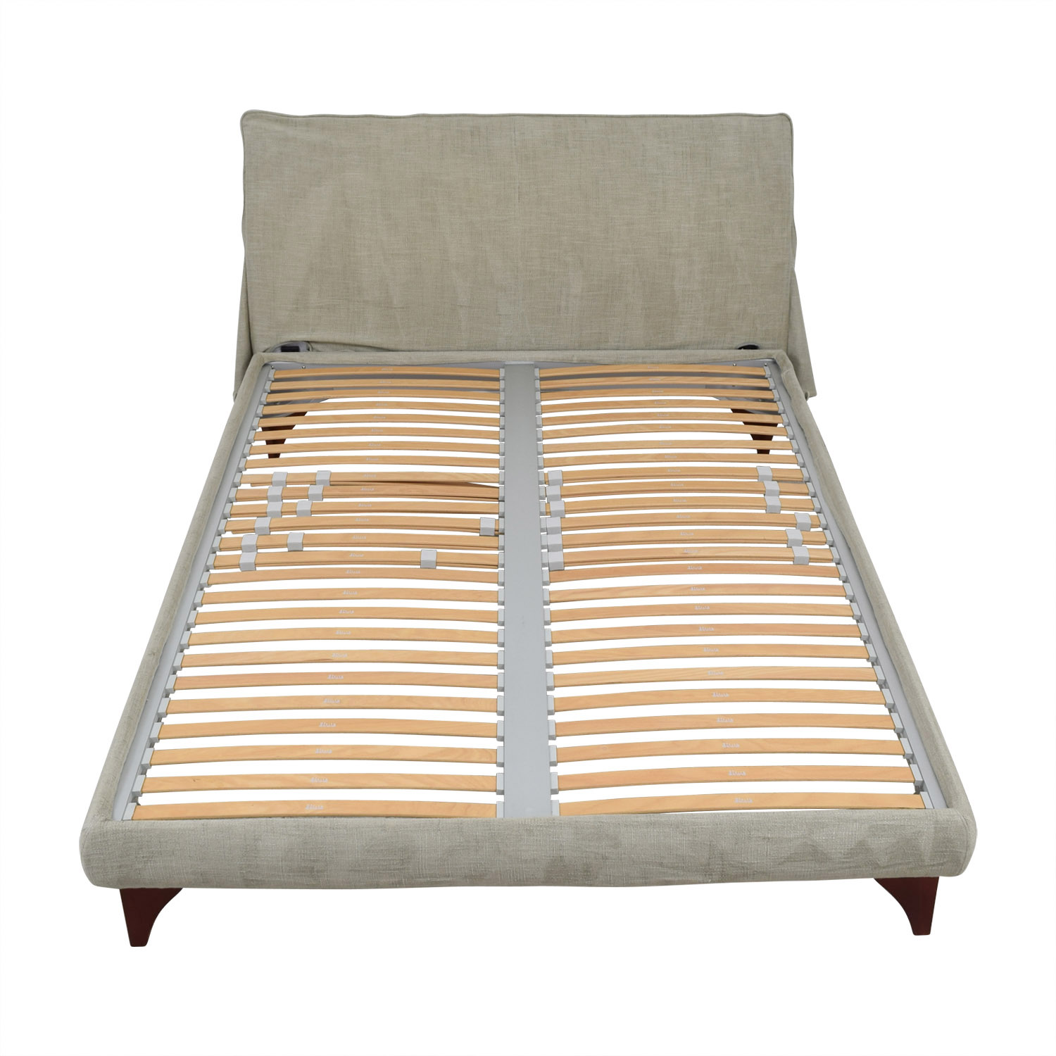 Flou Flou Beige Queen Platform Bed Frame for sale