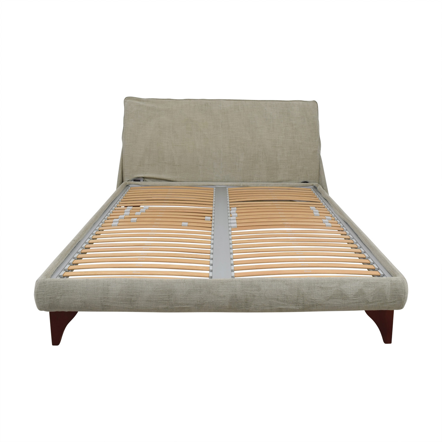 Flou Beige Queen Platform Bed Frame / Beds