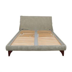 Flou Beige Queen Platform Bed Frame sale