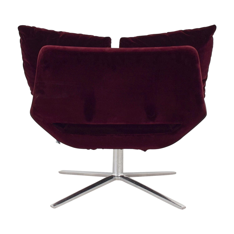 Pleasing 68 Off Ligne Roset Ligne Roset Burgundy Velvet Swivel Chair Chairs Theyellowbook Wood Chair Design Ideas Theyellowbookinfo