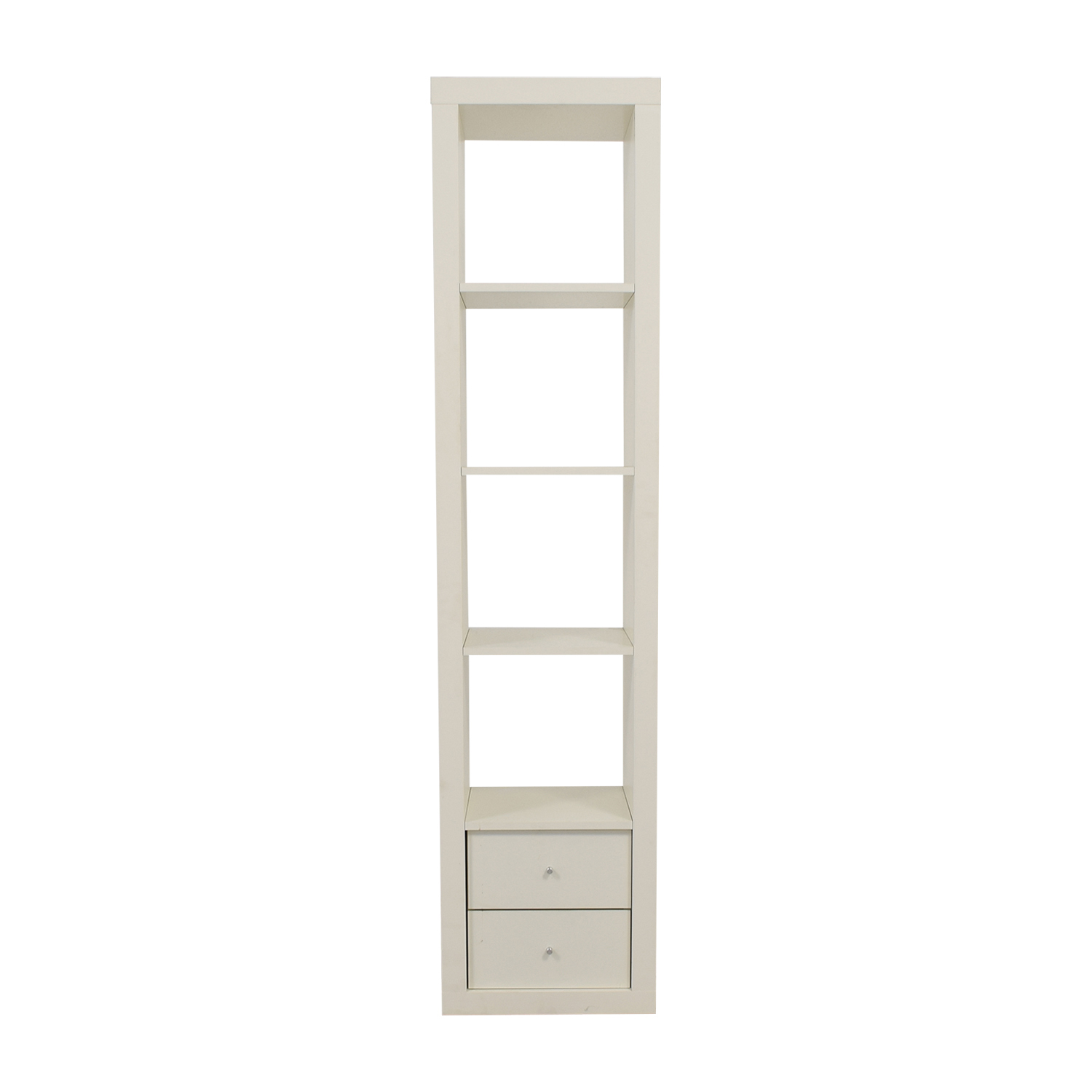 The Container Store White Two-Drawer Book  Shelf / Bookcases & Shelving
