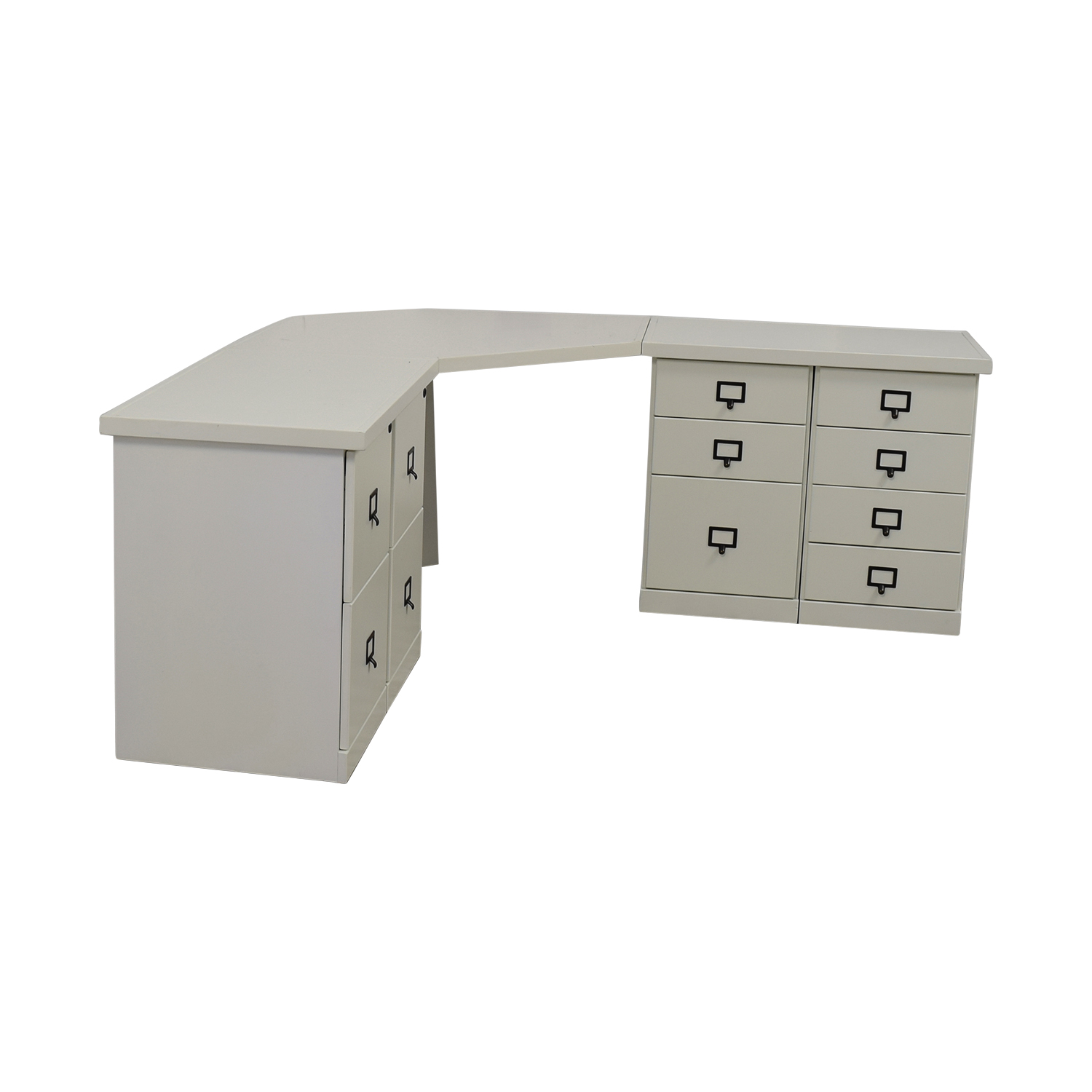Ballard Designs White Corner Desk With Drawers