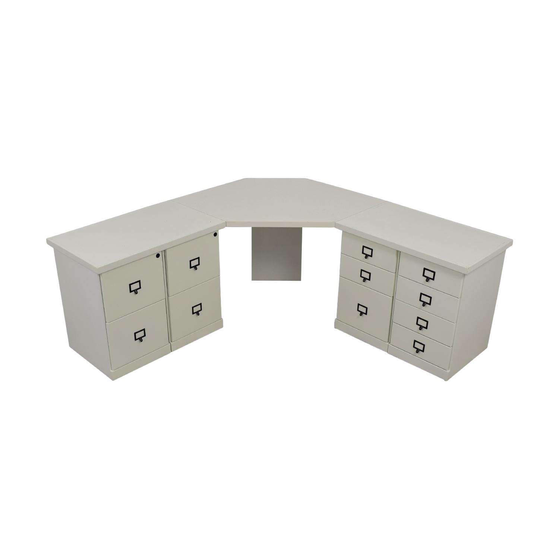 Ballard Designs White Corner Desk