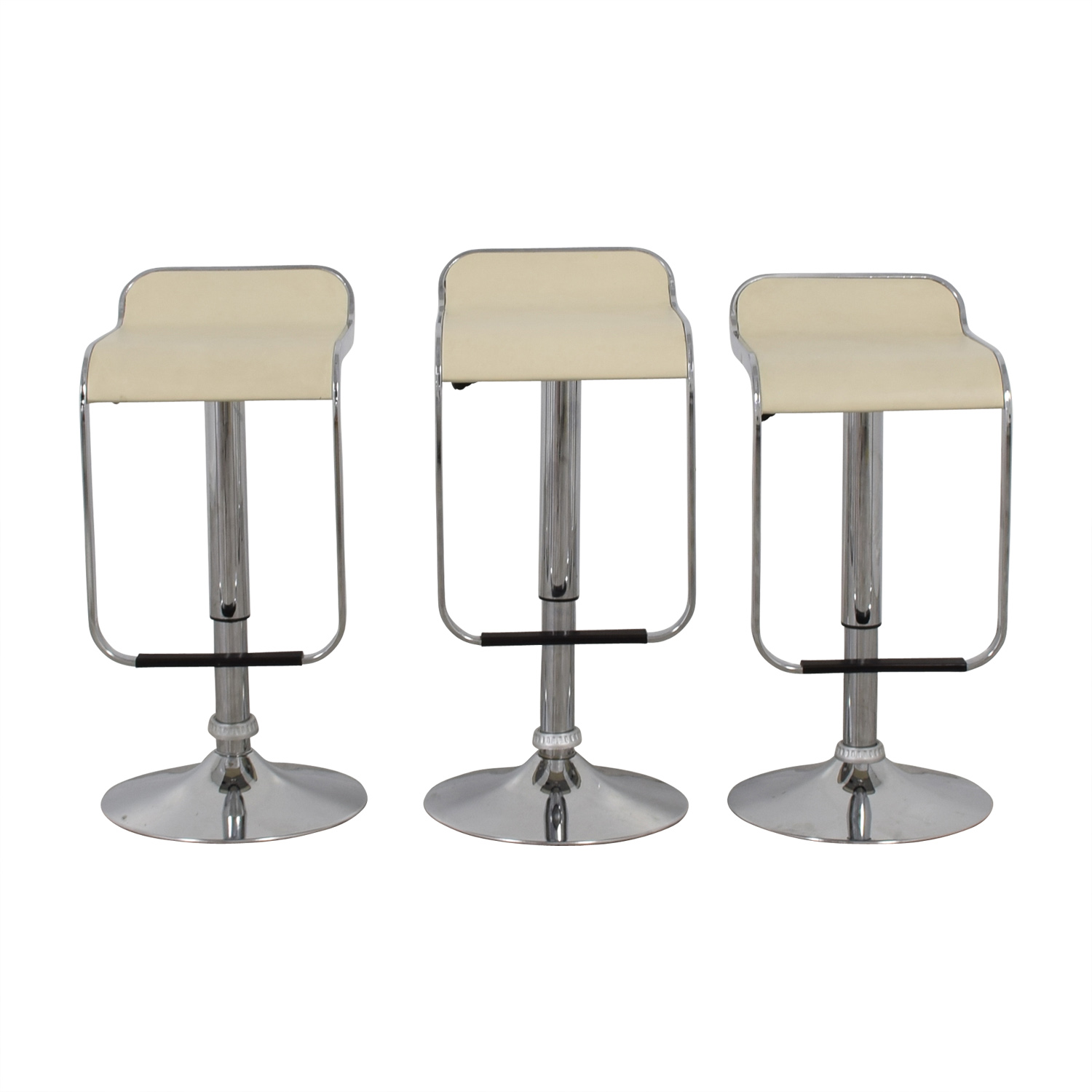 Pottery Barn White and Chrome Stools / Stools