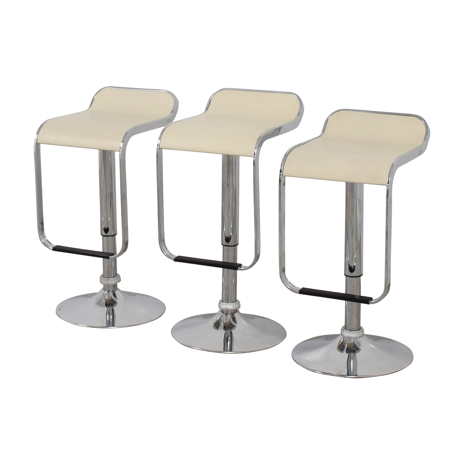 Pottery Barn Pottery Barn White and Chrome Stools for sale