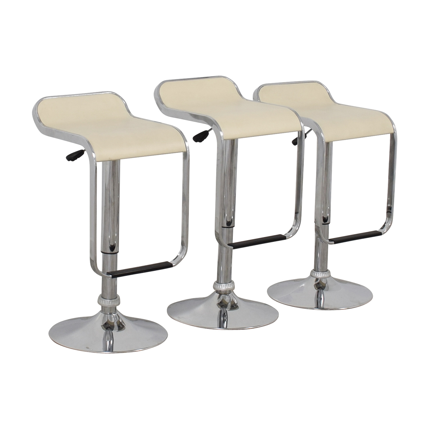 Pottery Barn Pottery Barn White and Chrome Stools coupon