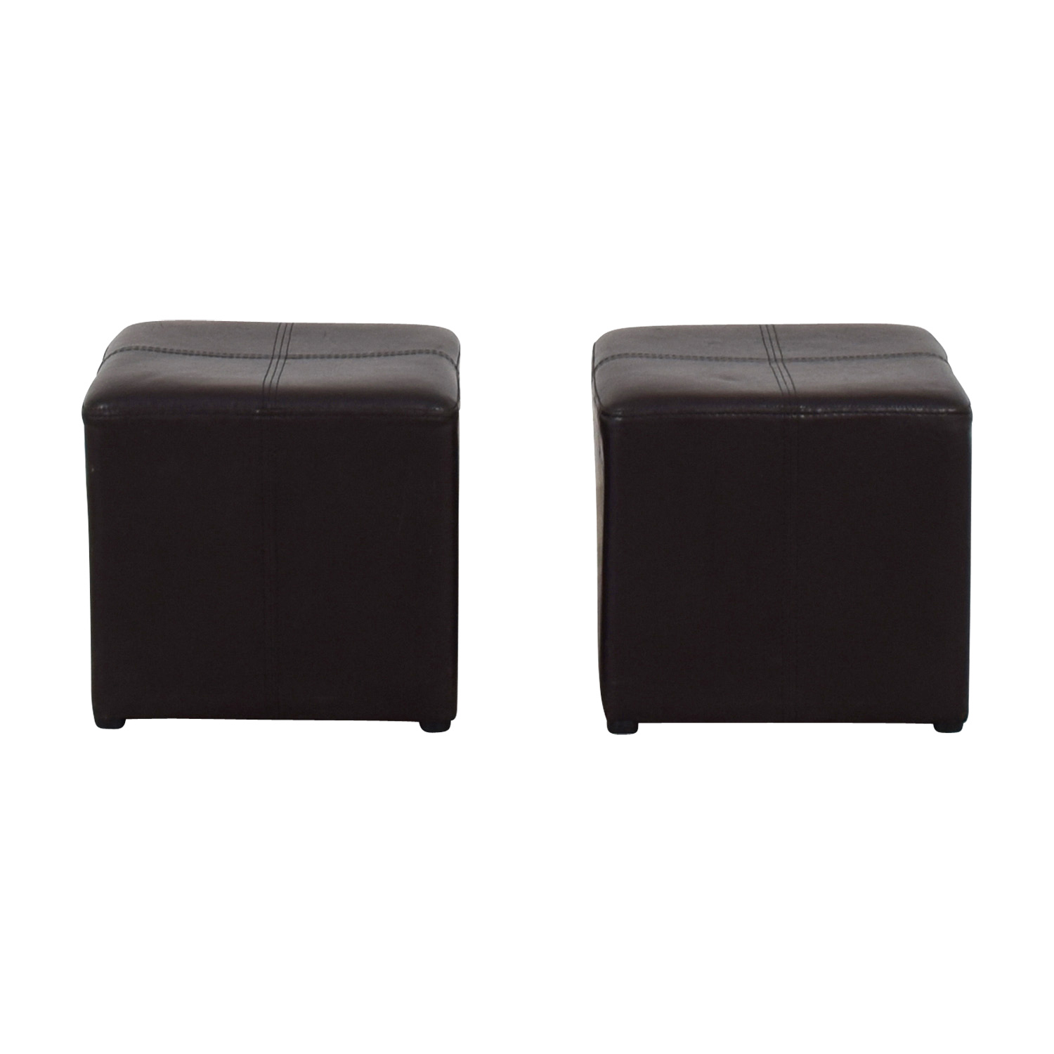 buy Brown Leather Stools  Chairs