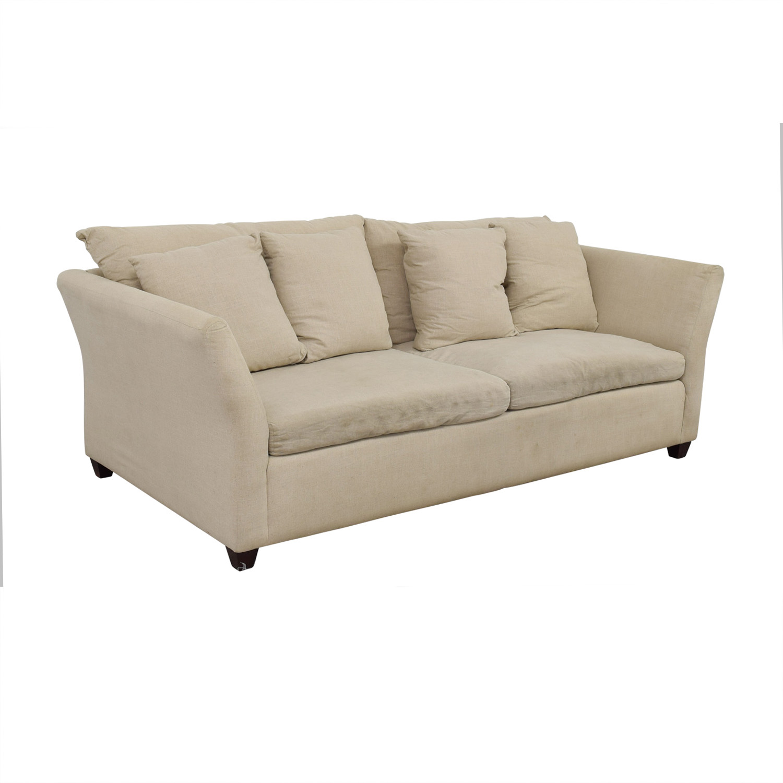 Abc Carpet Home Beige Two Cushion Sofa