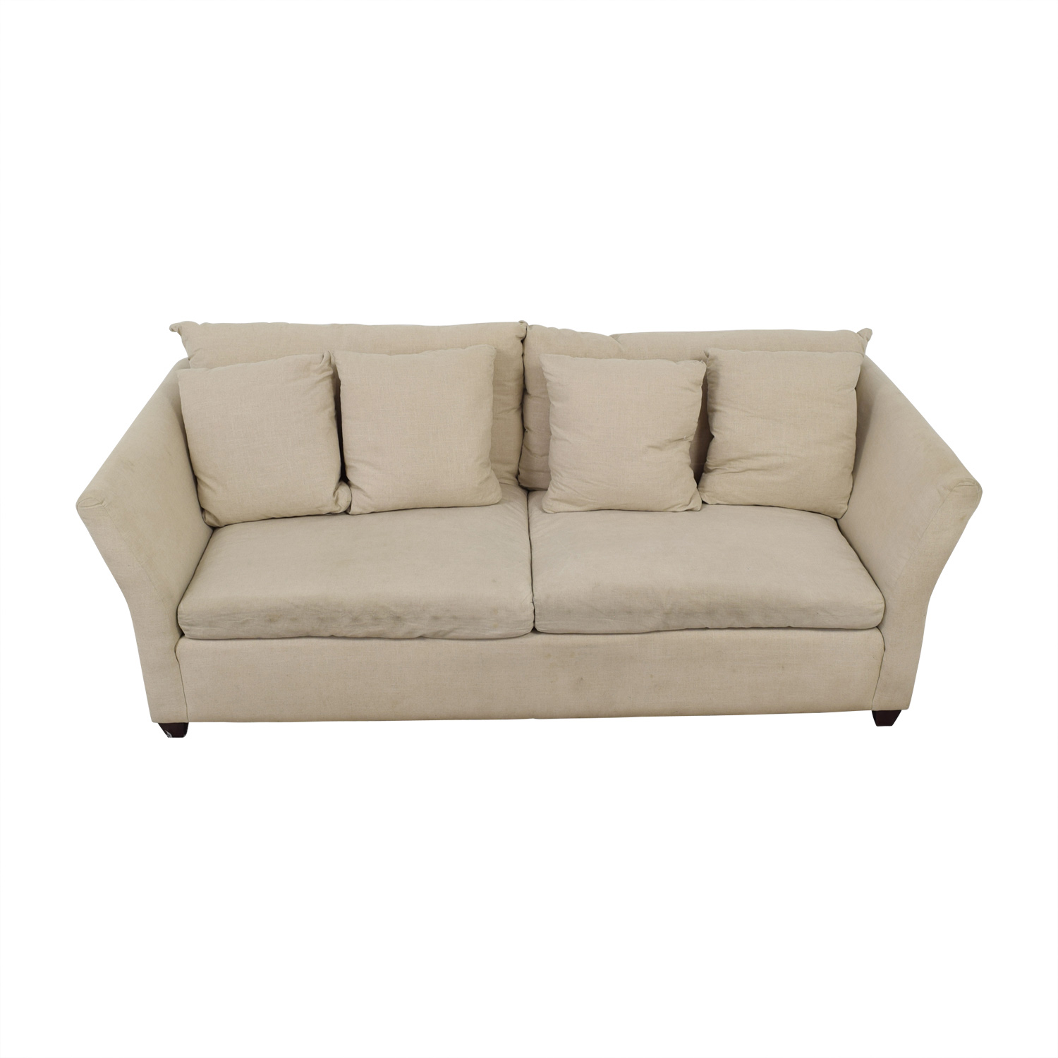 ABC Carpet & Home ABC Carpet & Home Beige Two-Cushion Sofa dimensions