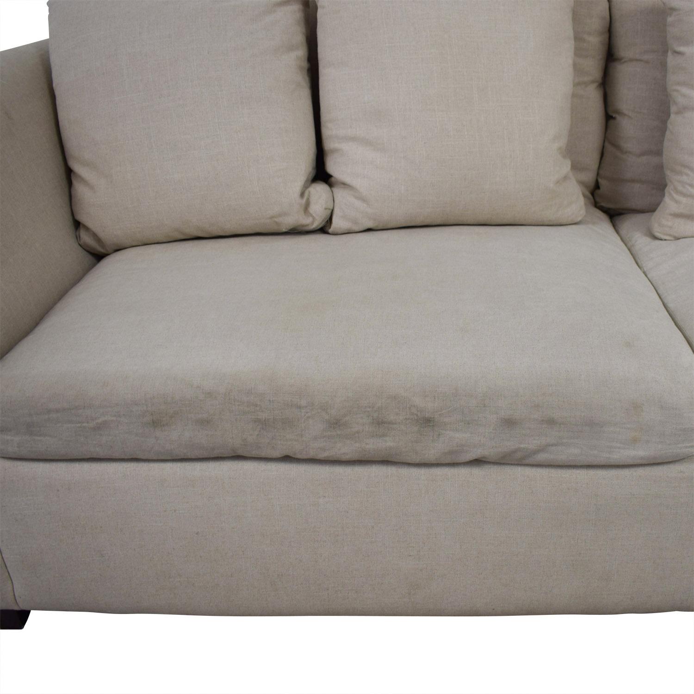 ABC Carpet & Home ABC Carpet & Home Beige Two-Cushion Sofa for sale