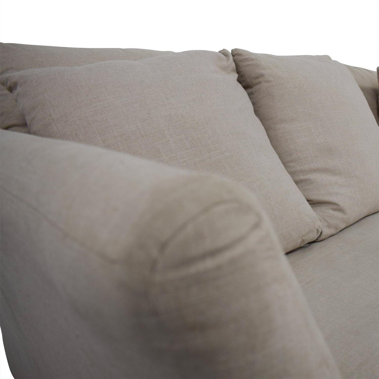 ABC Carpet & Home ABC Carpet & Home Beige Two-Cushion Sofa