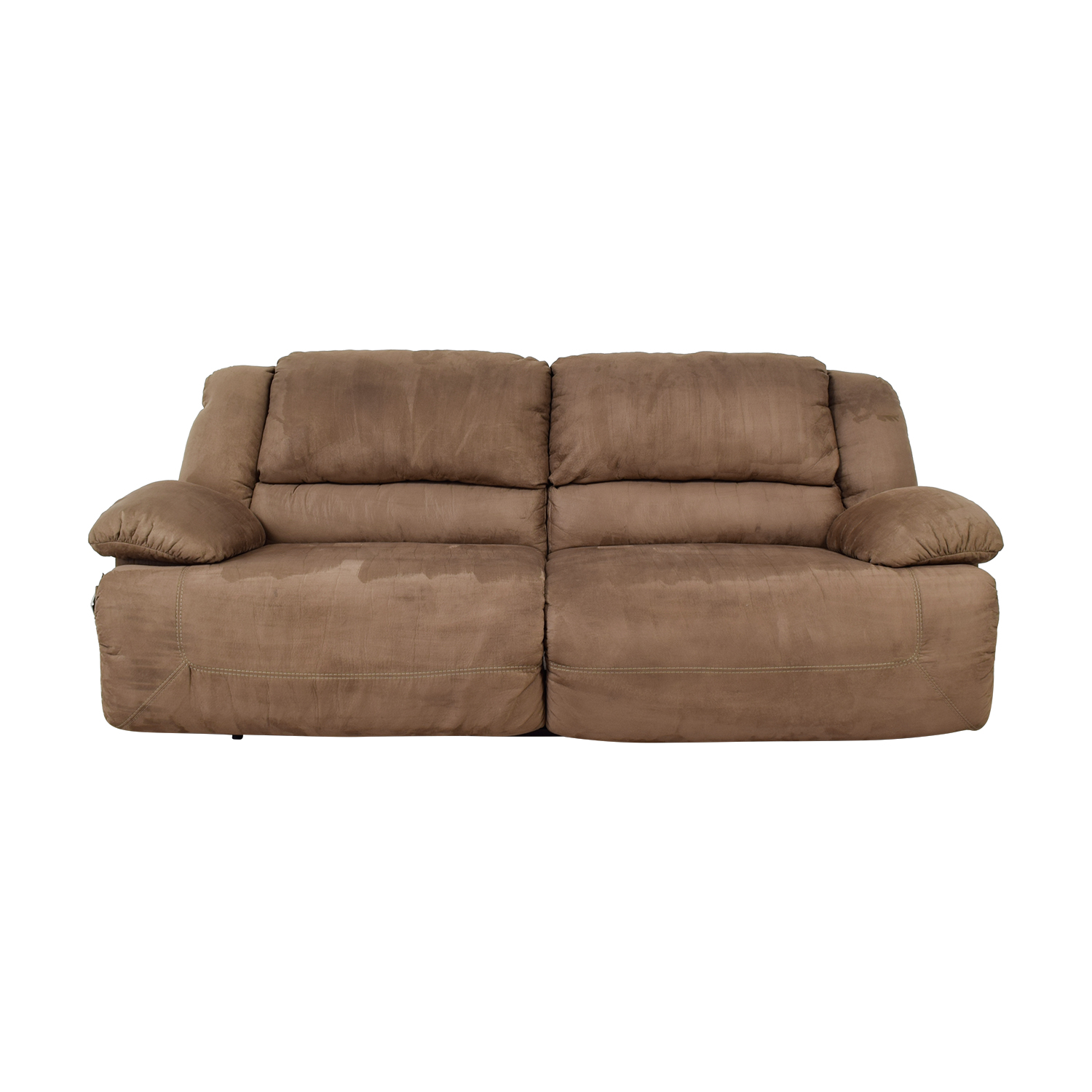 Ashley Furniture Ashley Furniture Mocha Reclining Sofa for sale