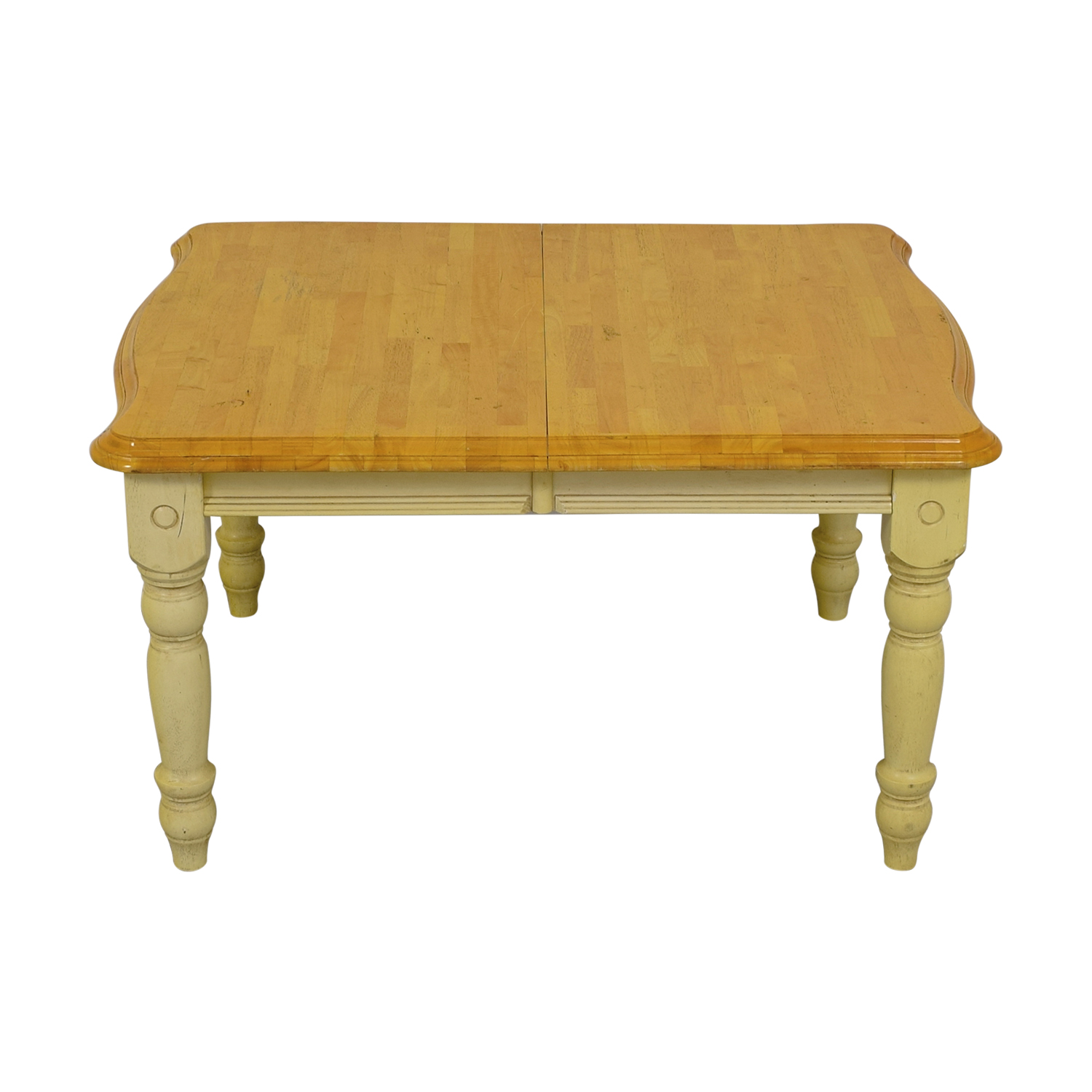 buy Limahsoon Limahsoon Cream Distressed Wood Top Dining Table online