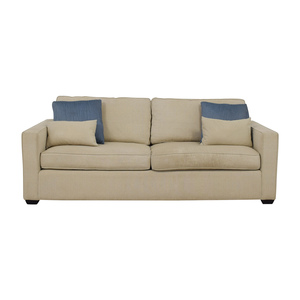Room & Board Dublin Beige Two-Cushion Sofa sale