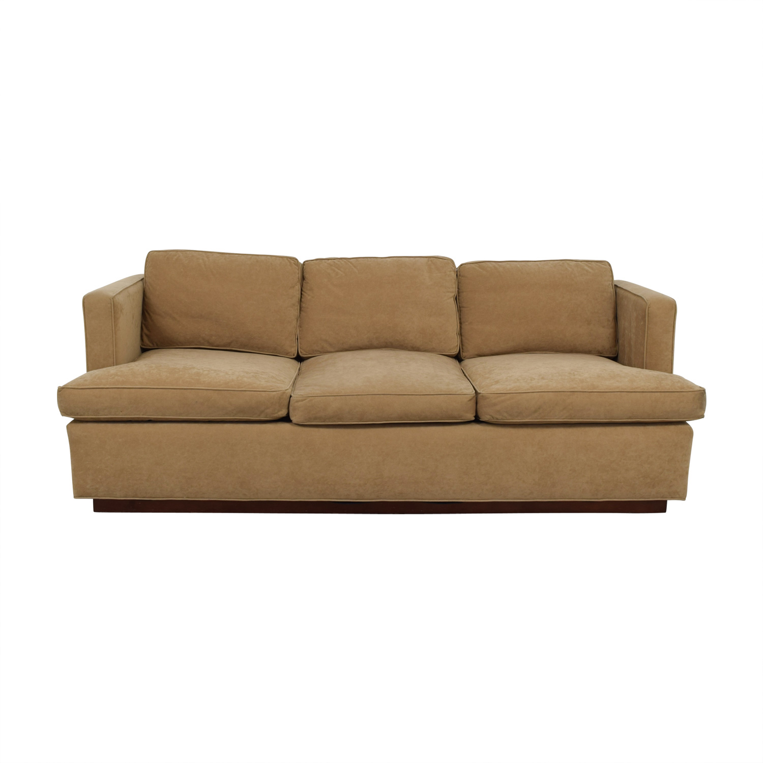 Beige Three-Cushion Sofa used