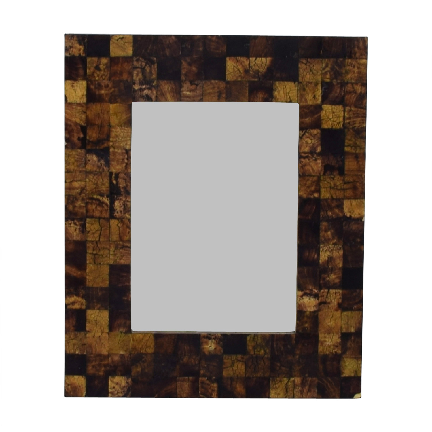 buy Pottery Barn Pottery Barn Crackled Wood Framed Wall Mirror online