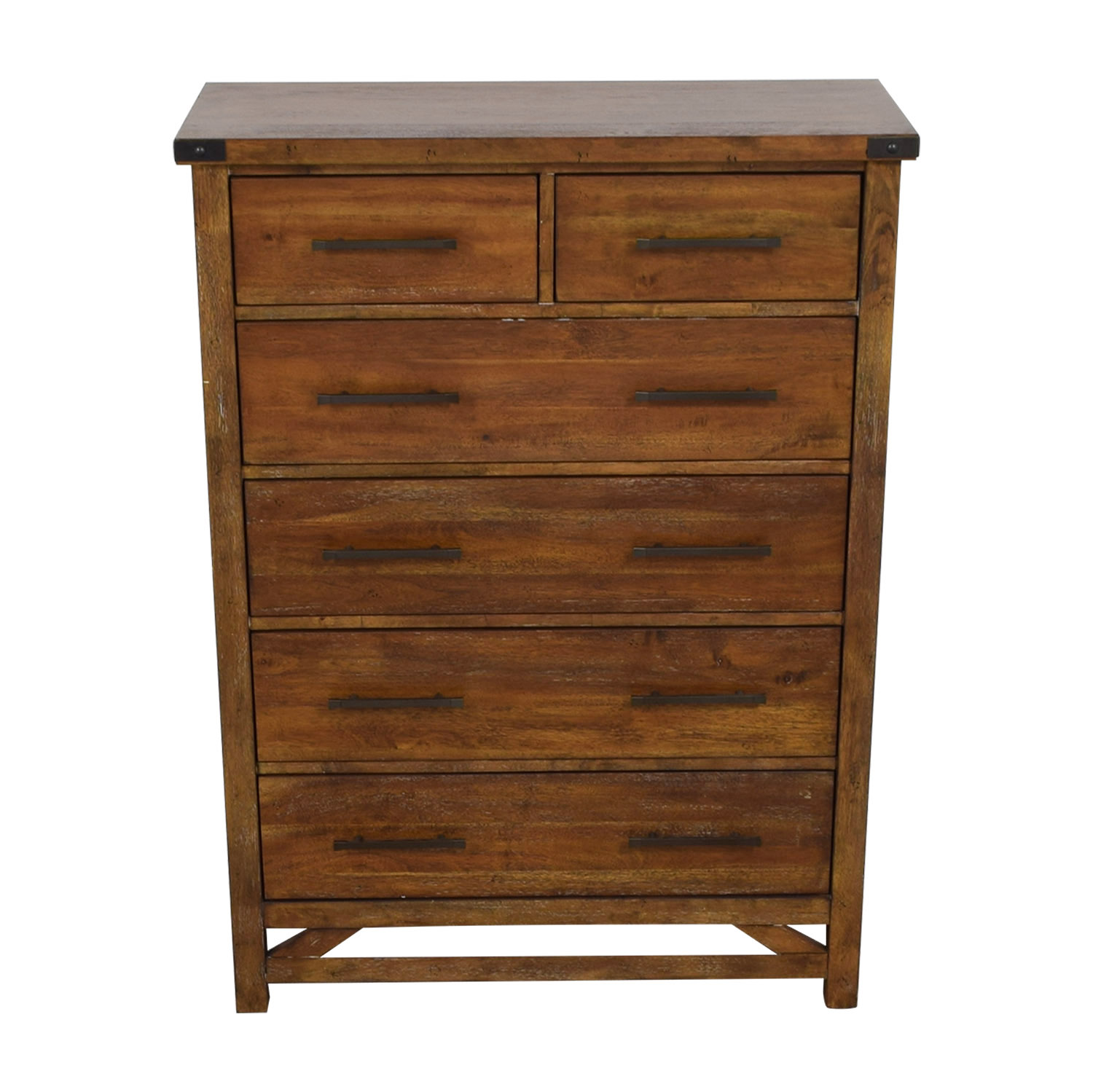 Walter of Wabash Walter of Wabash Six-Drawer Tall Chest of Drawers brown
