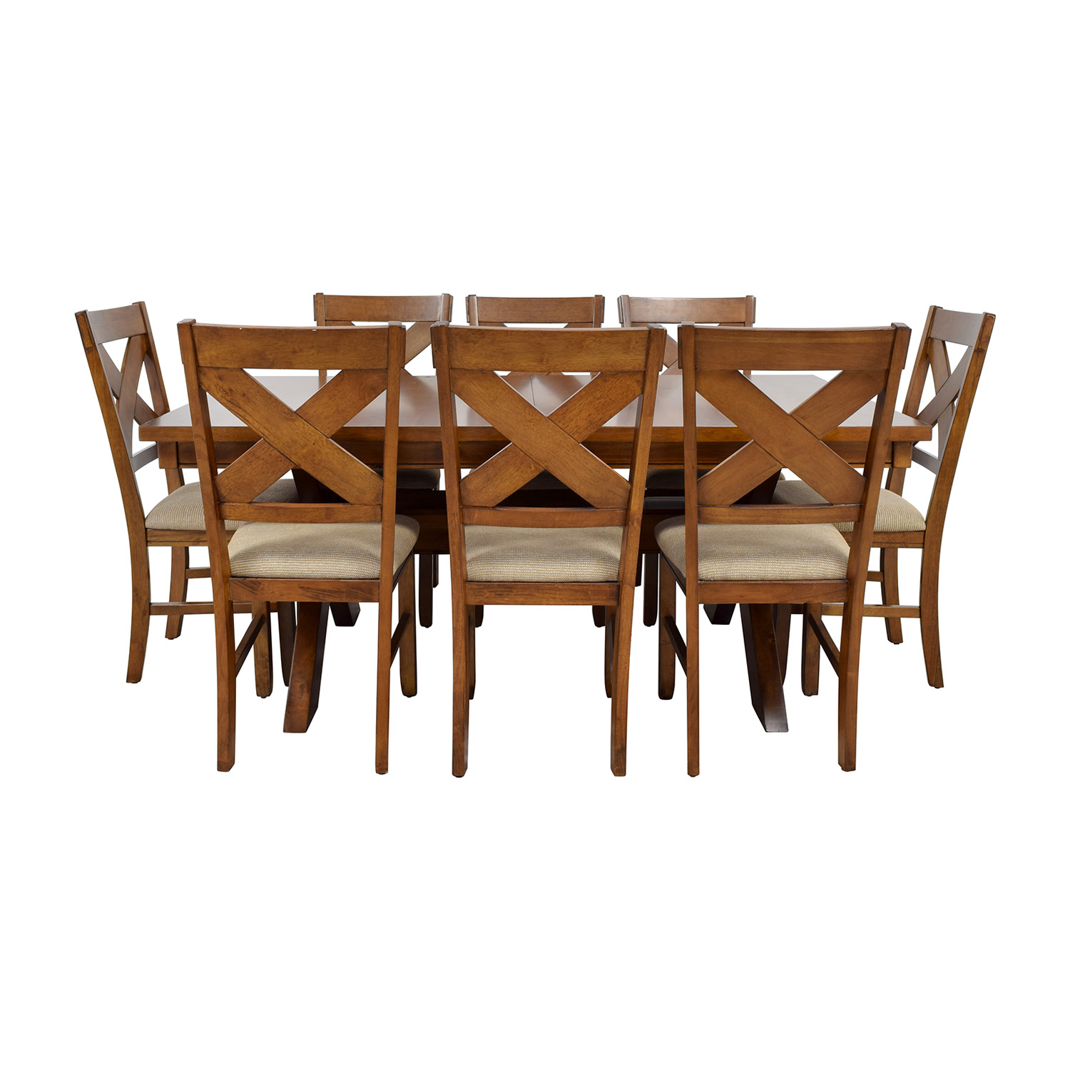 Superbe Roundhill Furniture Roundhill Furniture Karven Acacia Dining Set Second Hand