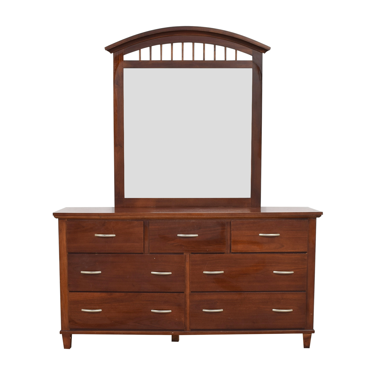 Broyhill Broyhill Wood Seven-Drawer Dresser with Mirror second hand