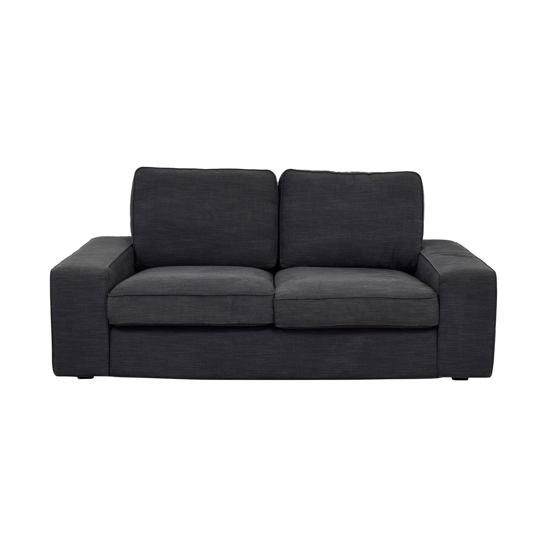 buy IKEA Kivik Hillared Anthracite Cover Two-Cushion Loveseat IKEA Sofas