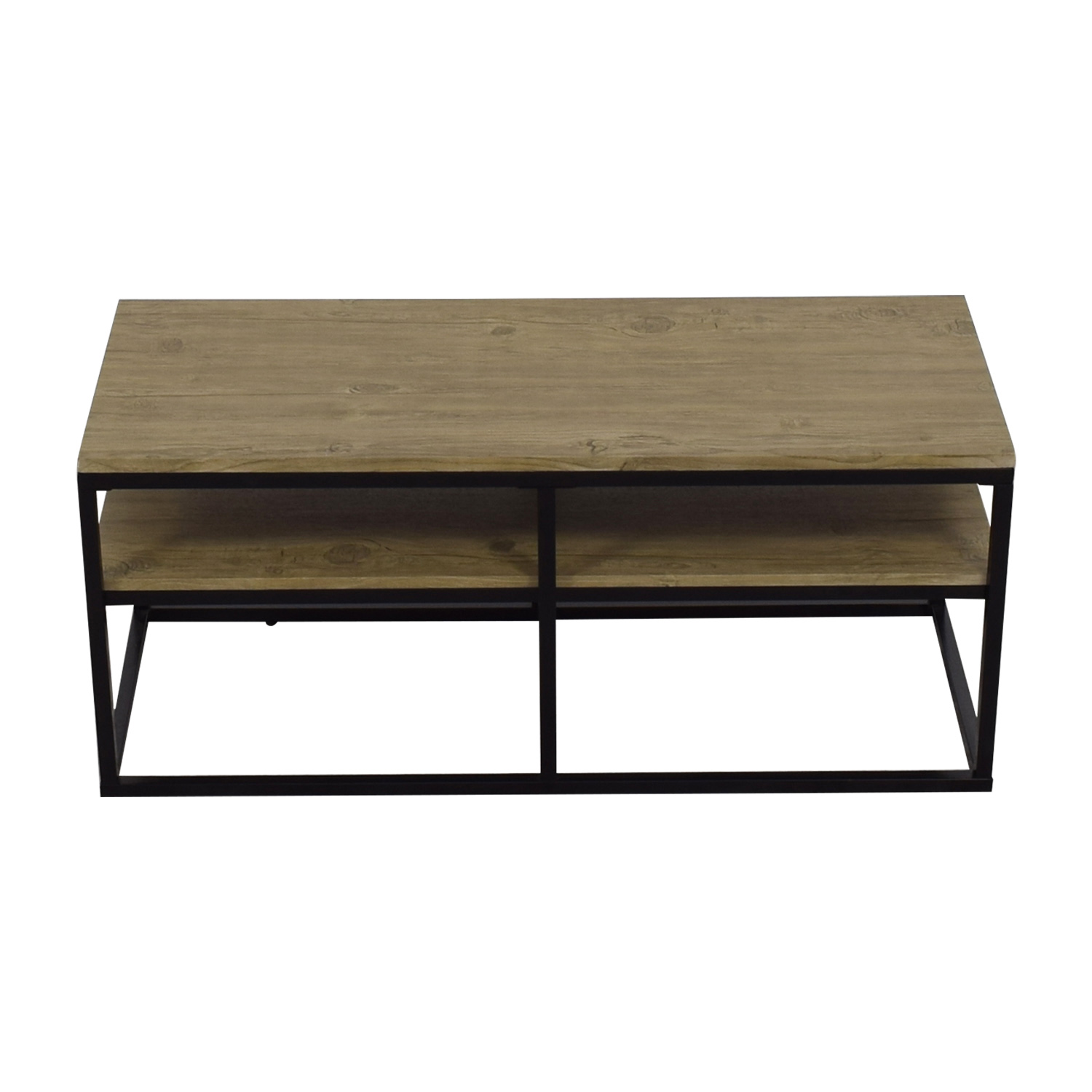 Modern Wood and Metal Coffee Table second hand