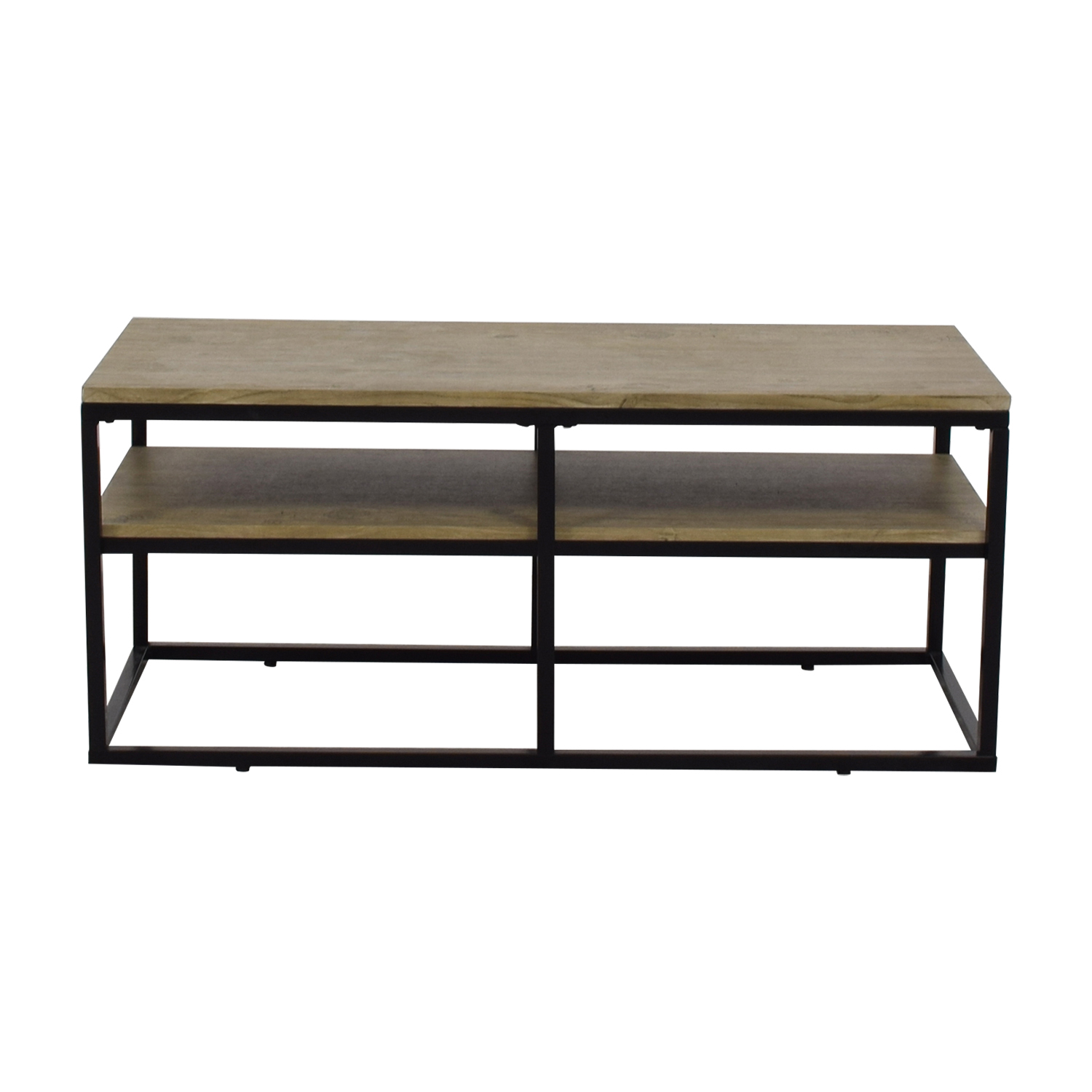 Modern Wood and Metal Coffee Table for sale