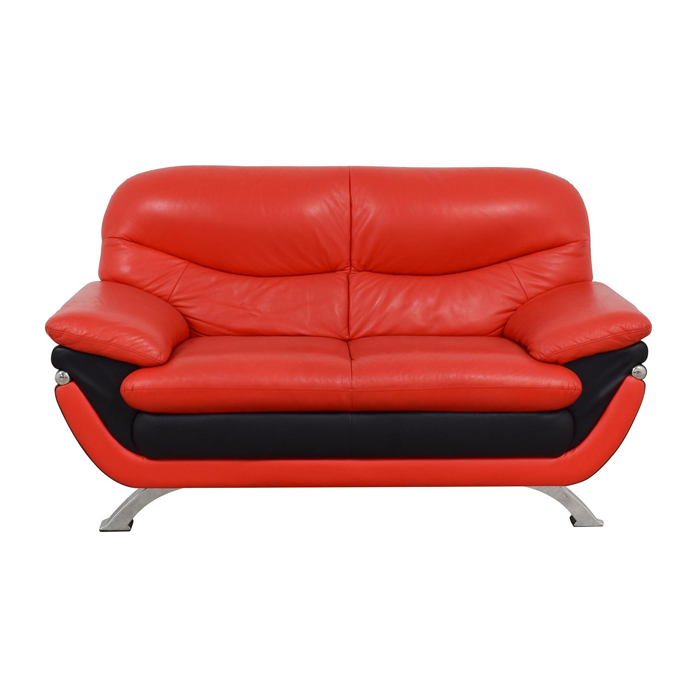 Hokku Designs Hokku Designs Red and Black Loveseat nj