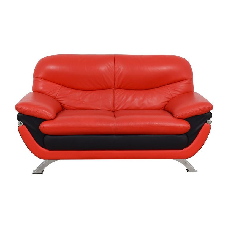 shop Hokku Designs Hokku Designs Red and Black Loveseat online