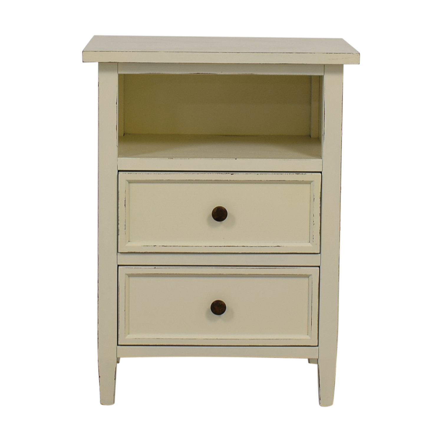 Crate & Barrel Crate & Barrel Harbor Dama White Two-Drawer Nightstand Sofas