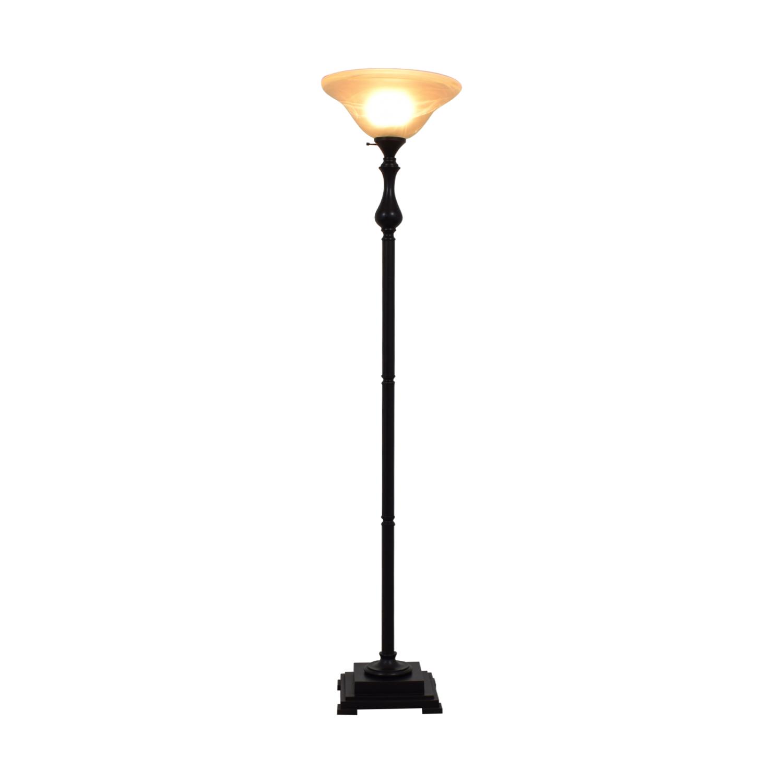 buy Torchiere Black Floor Lamp  Decor